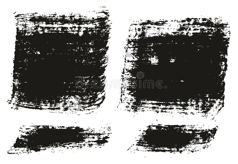 Paint Brush Wide Lines High Detail Abstract Vector Background Set 88. This image is a vector illustration and can be scaled to any size without loss of royalty free illustration