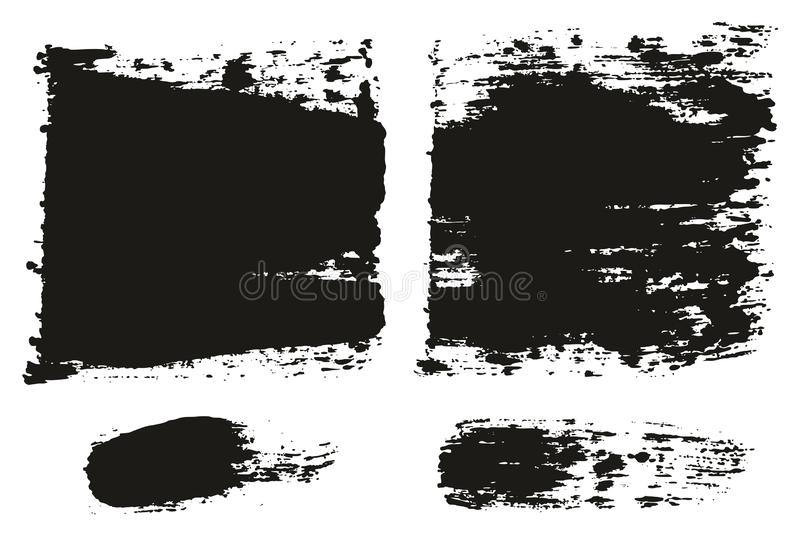 Paint Brush Wide Lines High Detail Abstract Vector Background Set 85. This image is a vector illustration and can be scaled to any size without loss of vector illustration