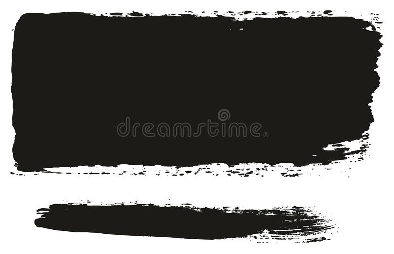 Paint Brush Wide Lines High Detail Abstract Vector Background Set 59. This image is a vector illustration and can be scaled to any size without loss of royalty free illustration