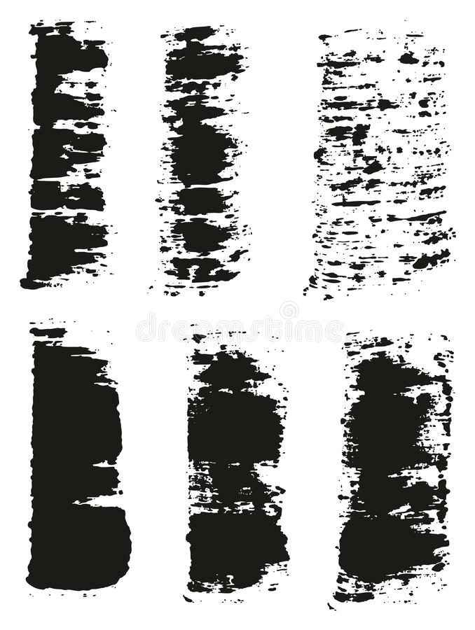 Paint Brush Wide Lines High Detail Abstract Vector Background Set 54. This image is a vector illustration and can be scaled to any size without loss of stock illustration
