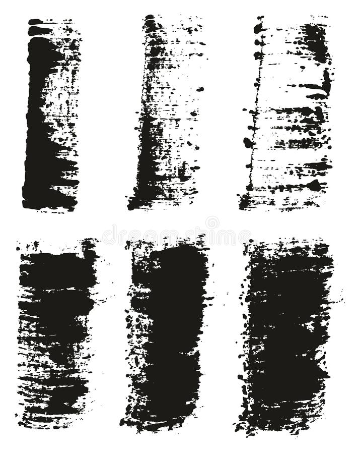Paint Brush Wide Lines High Detail Abstract Vector Background Set 39. This image is a vector illustration and can be scaled to any size without loss of vector illustration
