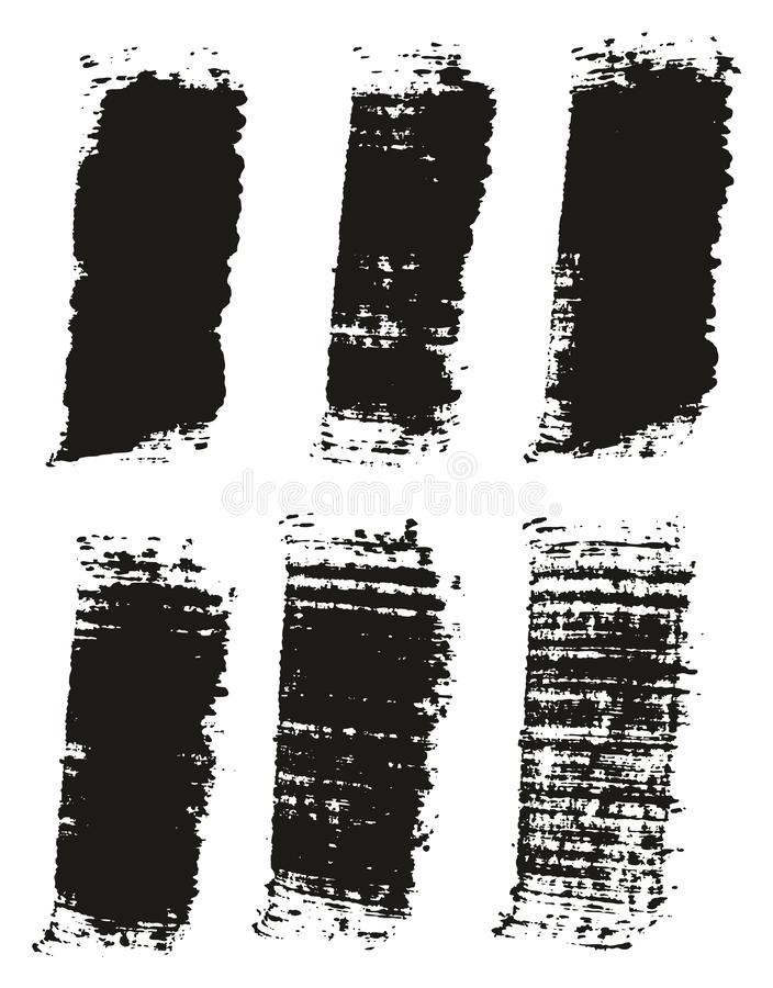 Paint Brush Wide Lines High Detail Abstract Vector Background Set 34. This image is a vector illustration and can be scaled to any size without loss of vector illustration