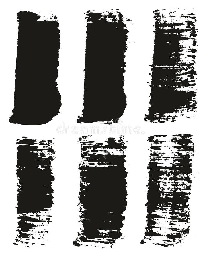 Paint Brush Wide Lines High Detail Abstract Vector Background Set 43. This image is a vector illustration and can be scaled to any size without loss of royalty free illustration