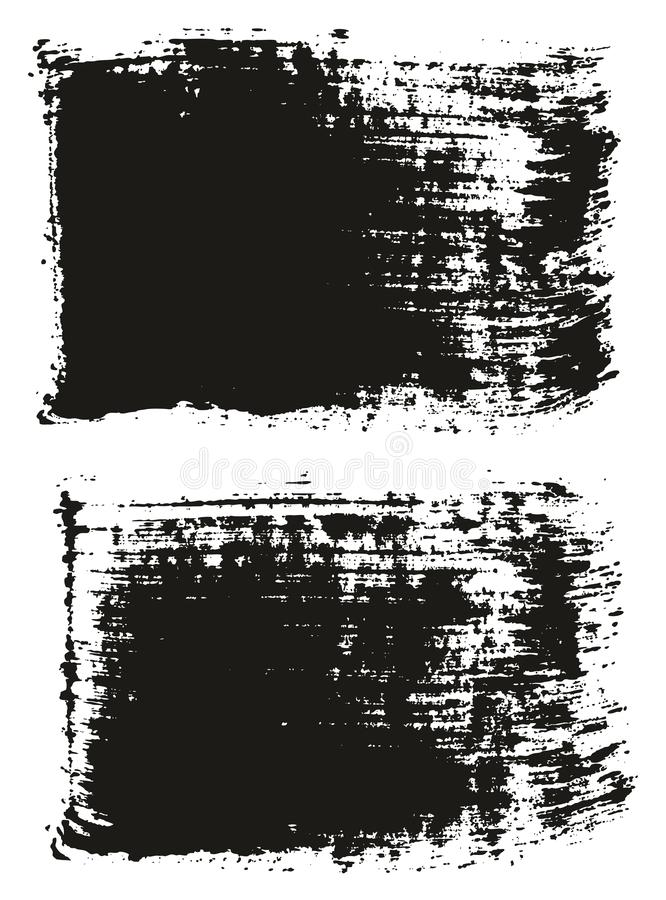 Paint Brush Wide Lines High Detail Abstract Vector Background Set 07. This image is a vector illustration and can be scaled to any size without loss of royalty free illustration
