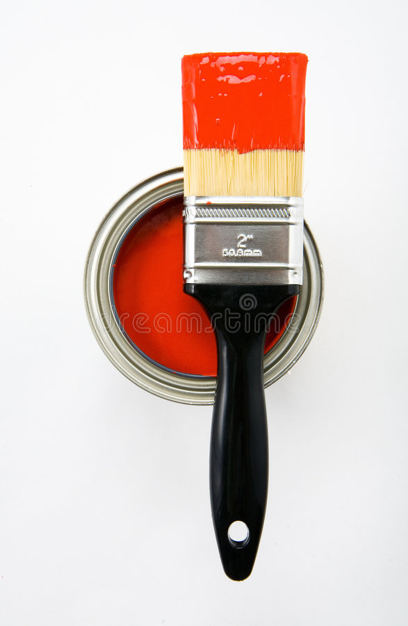 Free Paint Brush With Red Paint Stock Image - 2358991