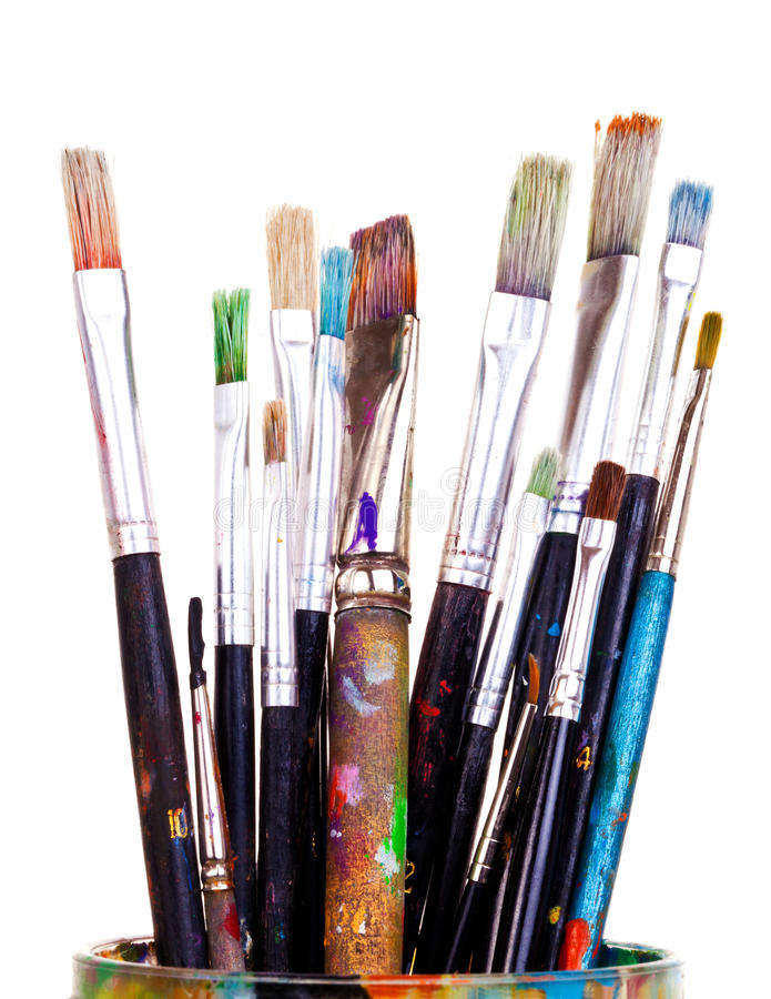 Paint brushes stock image