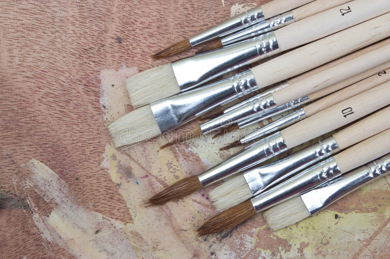 Download Paint brushes stock photo. Image of education, design - 25201190