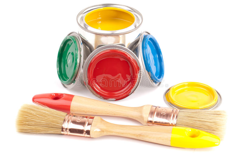 Download Paint brushes stock photo. Image of background, white - 25383438