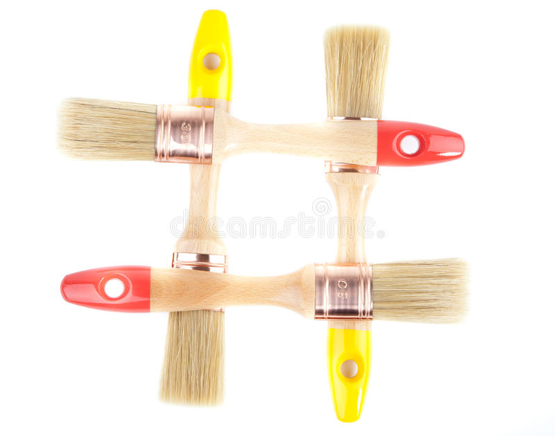 Download Paint brushes stock image. Image of container, white - 25397725