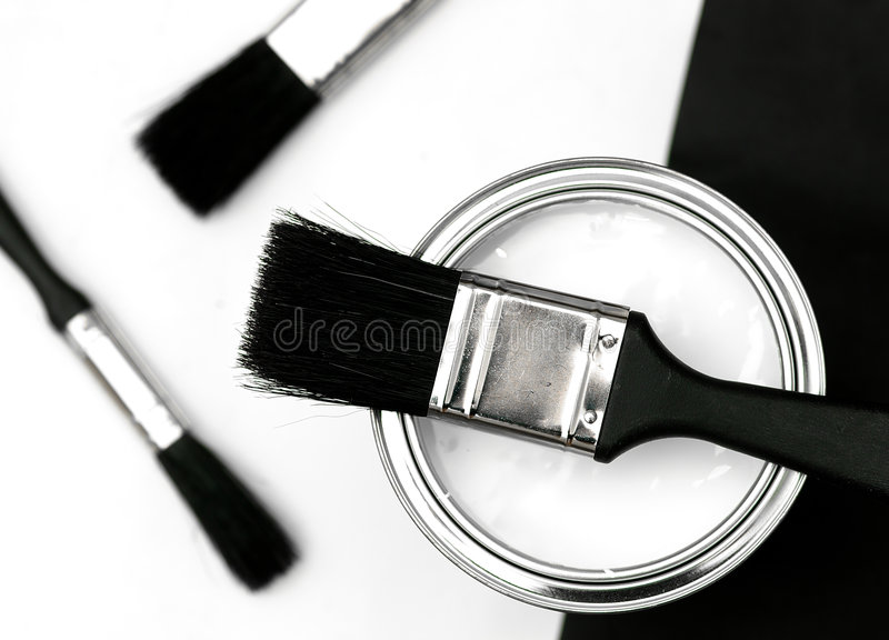 Download Paint and Brushes stock image. Image of gloss, emulsion - 254103