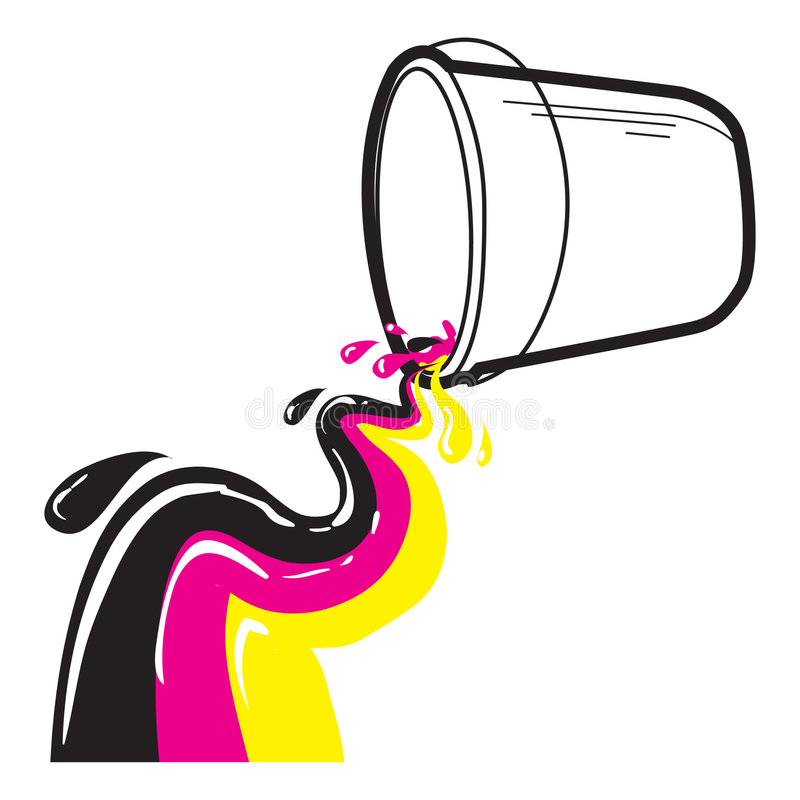 Paint bucket stock image