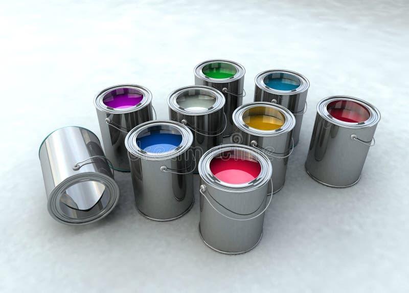 Paint bucket. Illustration