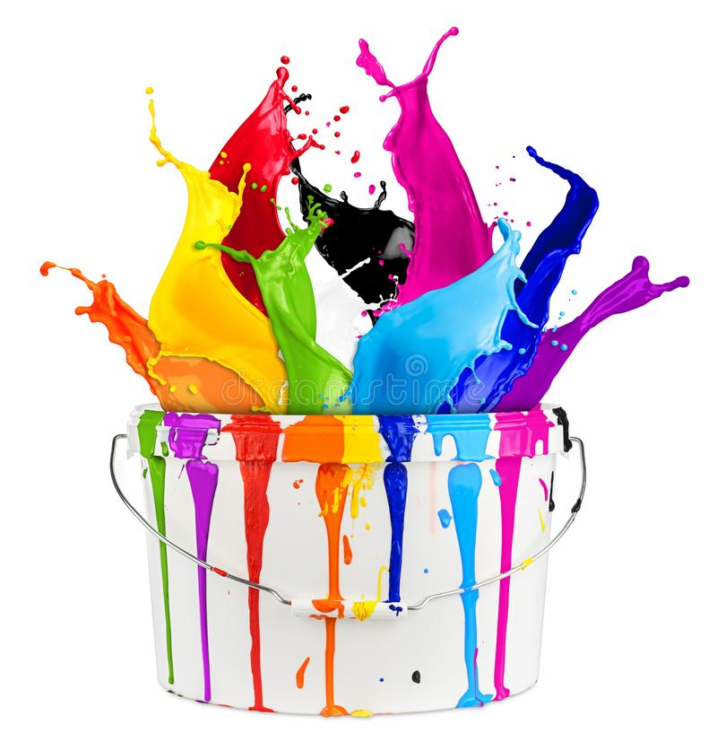 Free Paint Bucket Color Splash Royalty Free Stock Image - 117751266