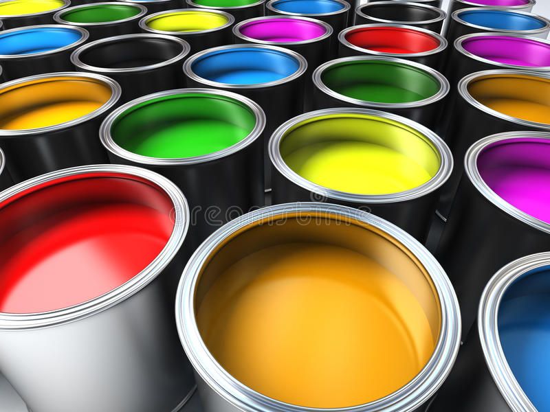 Download Paint buckets stock illustration. Image of background - 17433897