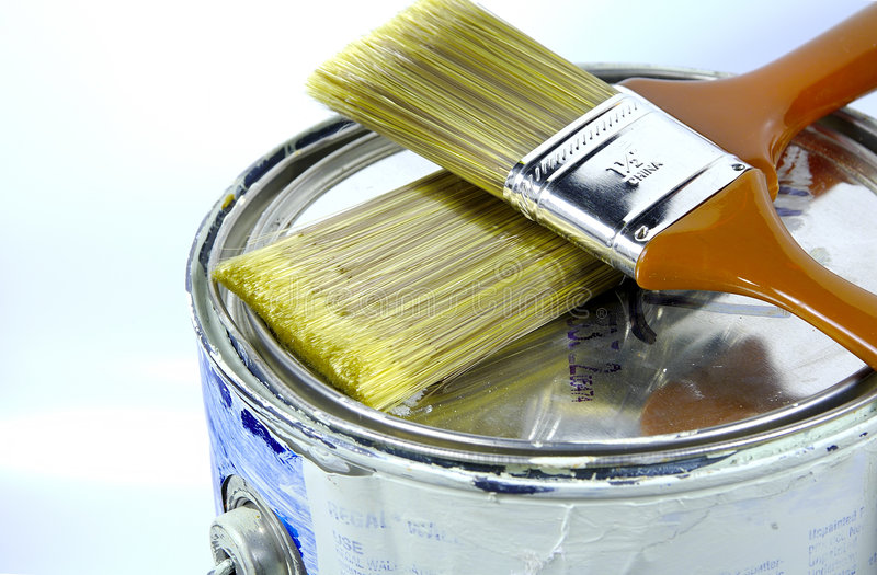 Download Paint Can 2 stock photo. Image of home, brush, ceiling, house - 62834