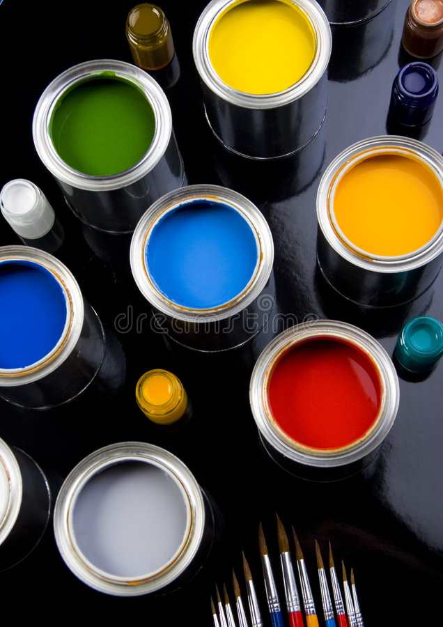 PAINT CAN. Let your world be colourful royalty free stock image