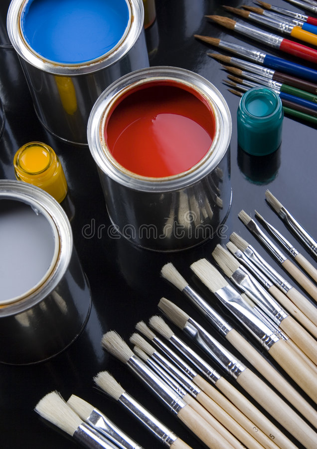 PAINT CAN. Let your world be colourful royalty free stock images