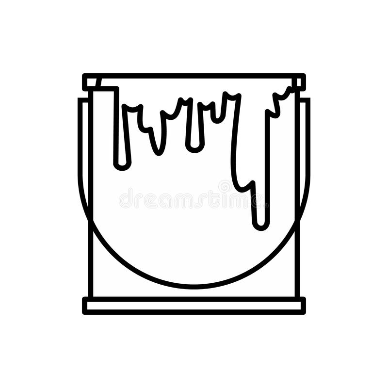 Paint can icon, outline style royalty free illustration
