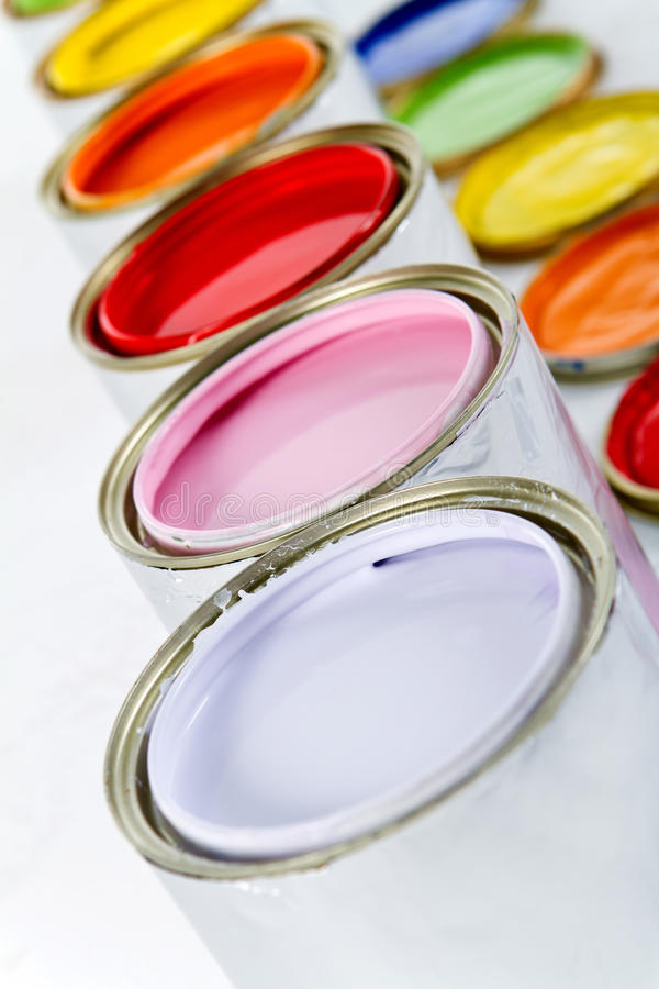Download Paint cans stock photo. Image of paint, colors, painting - 18519924