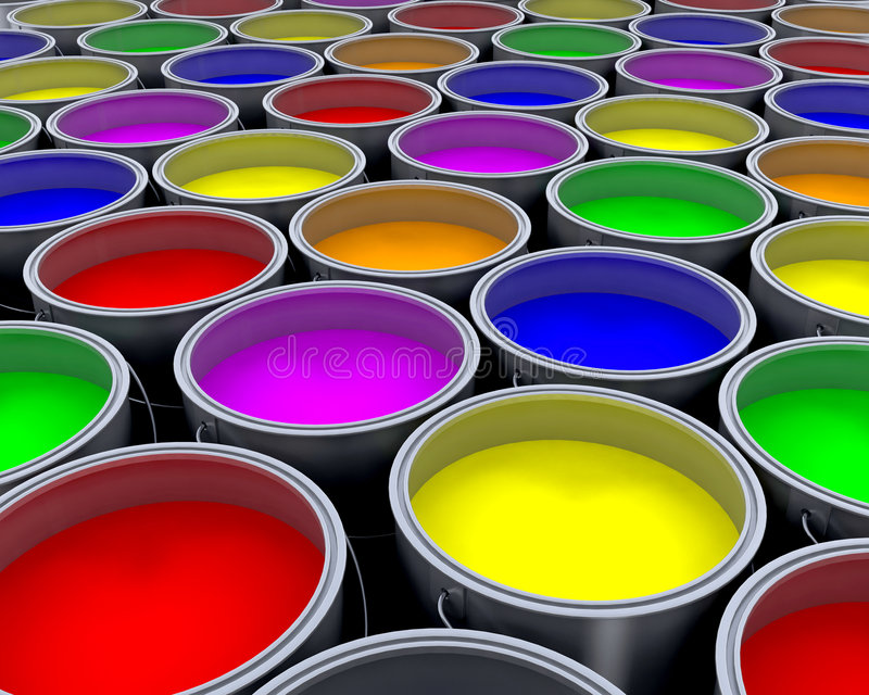 Paint cans royalty free illustration