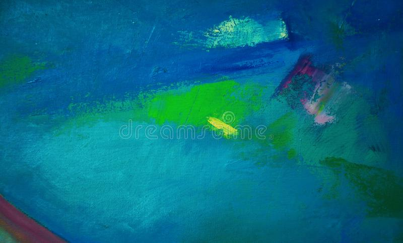 PAINT ON THE CANVAS. WITH BRUSH AND MI SIC. royalty free stock photo