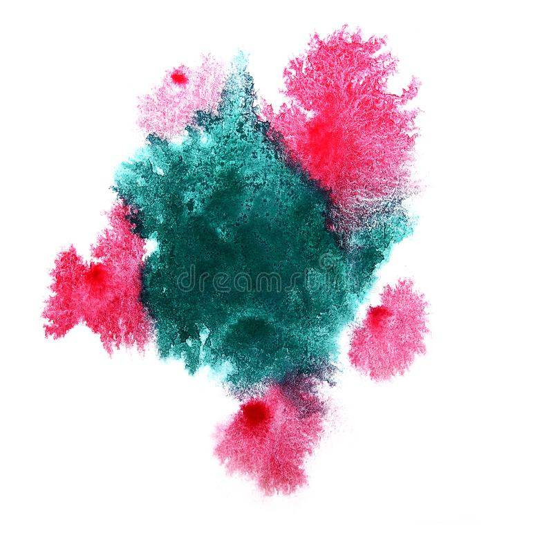 Paint cherry, marsh splash ink blot and white abstract art brus. Hes isolated stock photos
