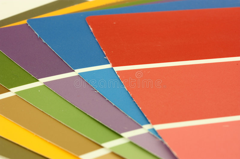 Paint Chips Stock Photography