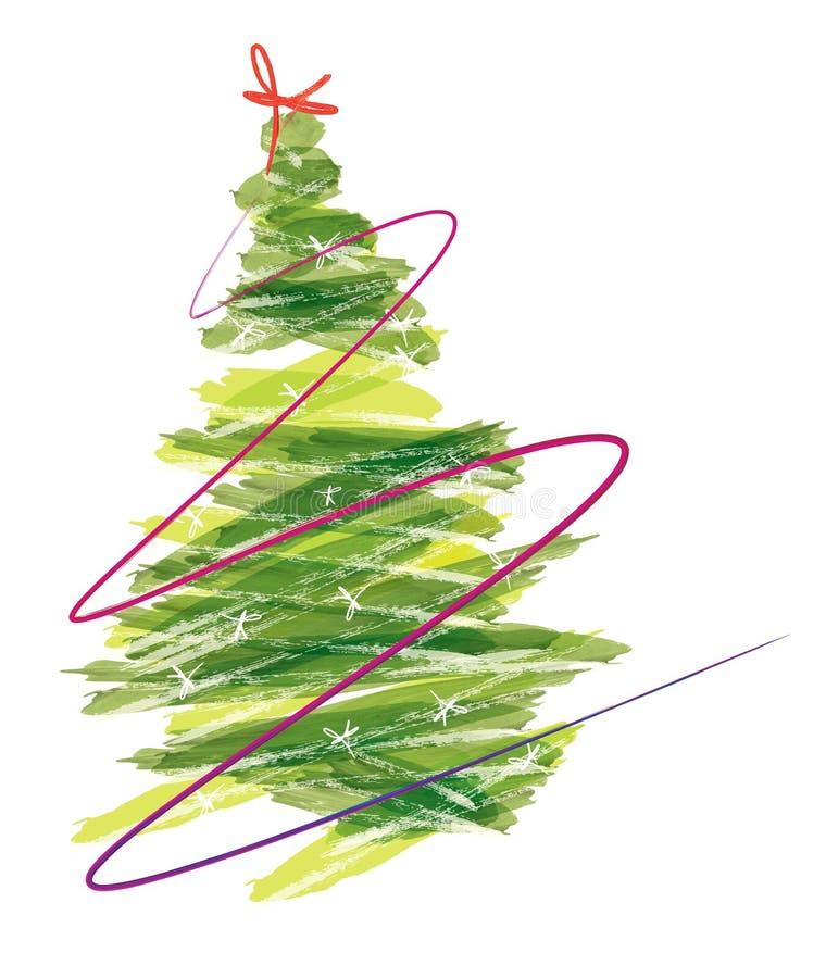 Paint Christmas Tree stock vector. Illustration of green - 27138165