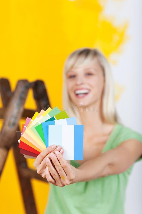 Paint color choices stock images