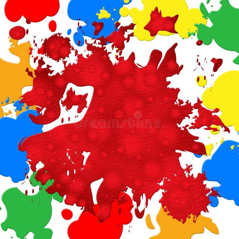 color backdrop paint color shows backdrop blot and vibrant stock illustration