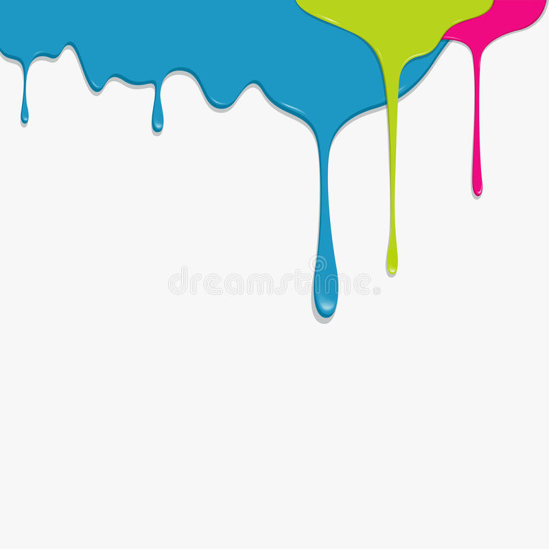 Paint Colorful Dripping Background Royalty Free Stock Images