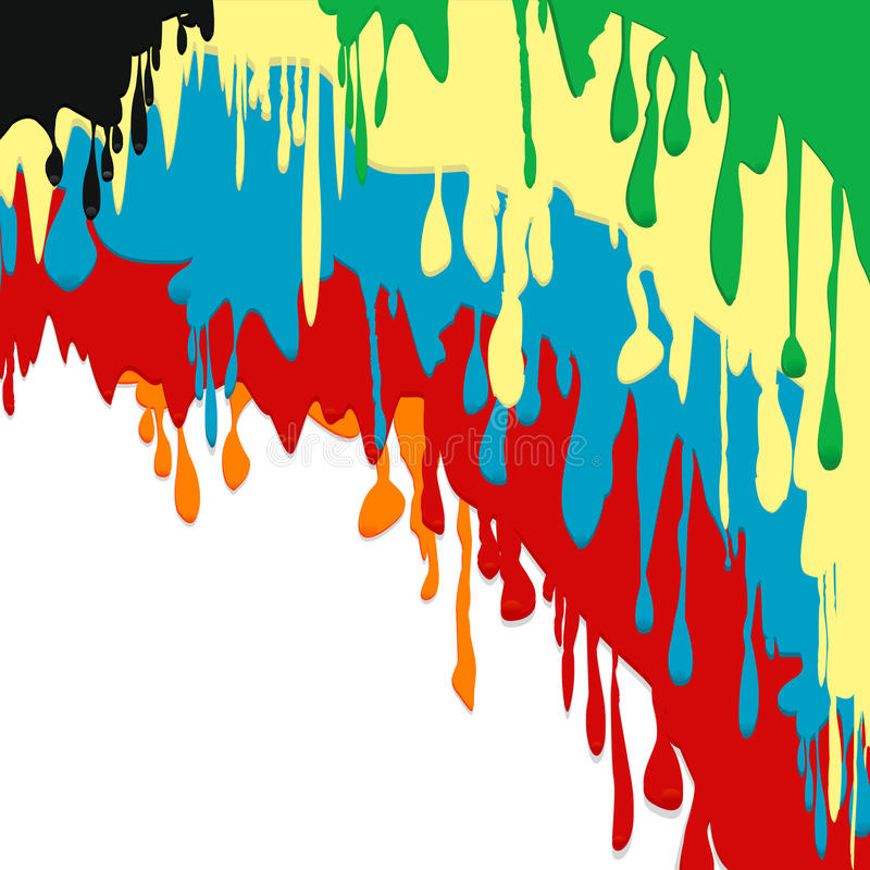 Download Paint Colorful Dripping Background Stock Illustration - Illustration of exploding, icon: 32364553