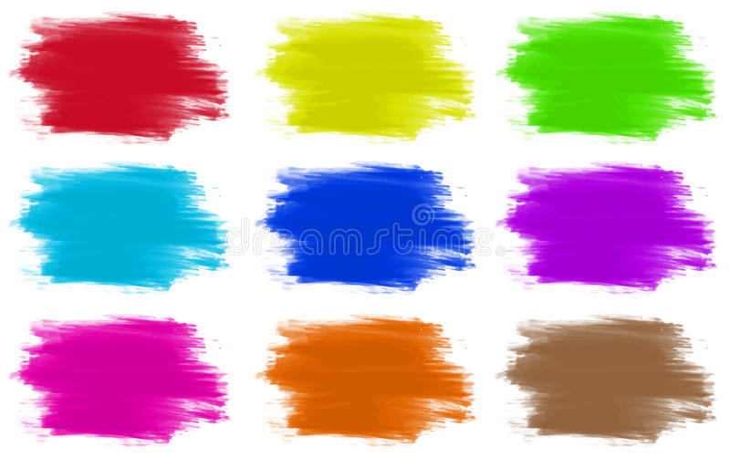 Paint colours set of 9. Illustration stock illustration