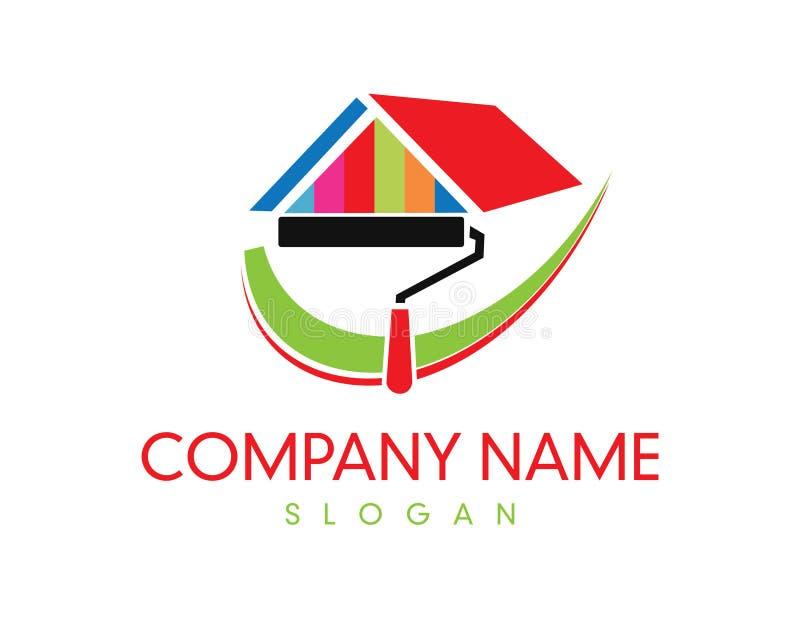 Paint company logo. On white background royalty free illustration
