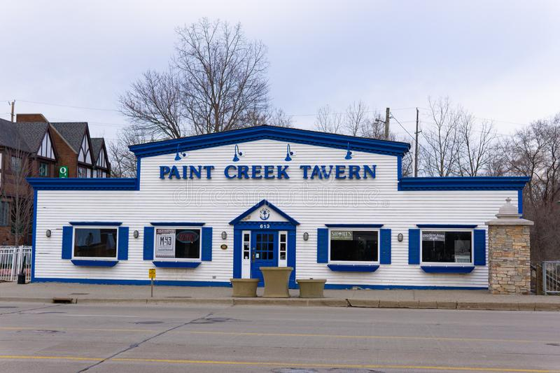 Paint Creek Tavern, Downtown Rochester Michigan. Facade stock images