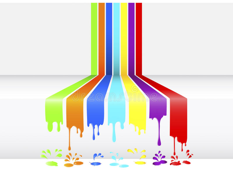 Paint Dripping. Stock Photos