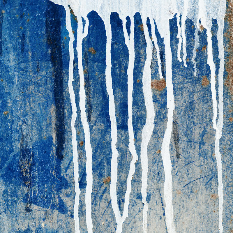 Paint dripping wall stock illustration