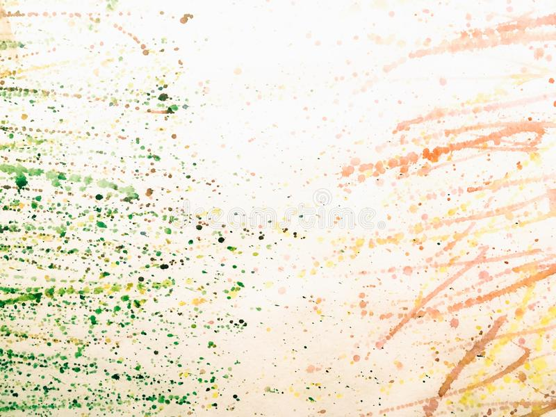 Download Paint Drops On The White Paper Stock Photo - Image: 83718904