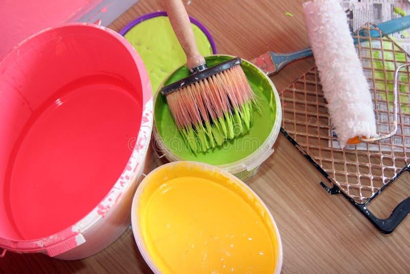 Download Paint equipment stock photo. Image of brush, paintbrush - 16182678