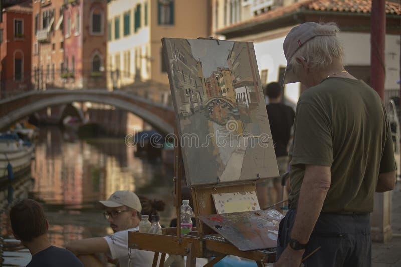 Paint a glimpse of Venice stock image
