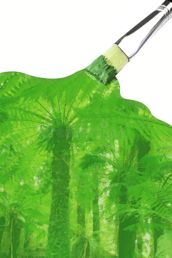 Paint it Green #2 royalty free stock photo