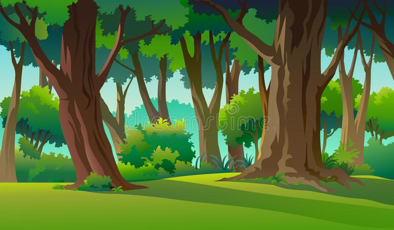 Paint illustrations in the wild and natural royalty free illustration