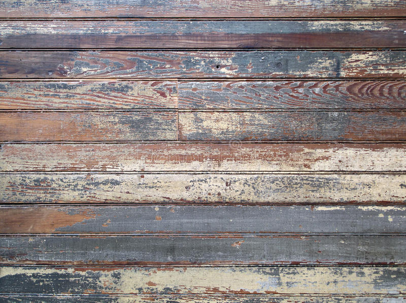 Paint Layered Old Wood Boards. royalty free stock photos
