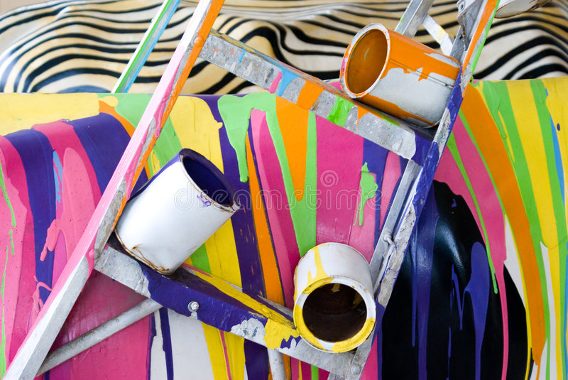 Download Paint Mess stock photo. Image of angle, isolated, black - 6341360