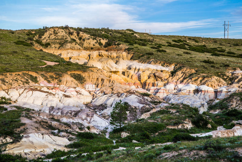 The Paint Mines Interpretive Park Colorado Springs Calhan. The Paint Mines Interpretive Park is a tourist location for those interested in geological rock royalty free stock photography