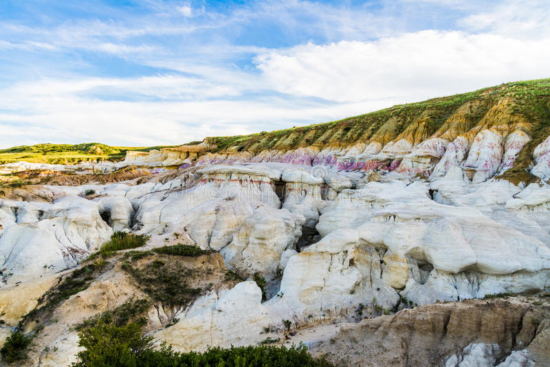 The Paint Mines Interpretive Park Colorado Springs Calhan. The Paint Mines Interpretive Park is a tourist location for those interested in geological rock stock image