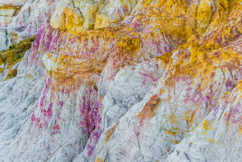 The Paint Mines Interpretive Park Colorado Springs Calhan. The Paint Mines Interpretive Park is a tourist location for those interested in geological rock royalty free stock photo