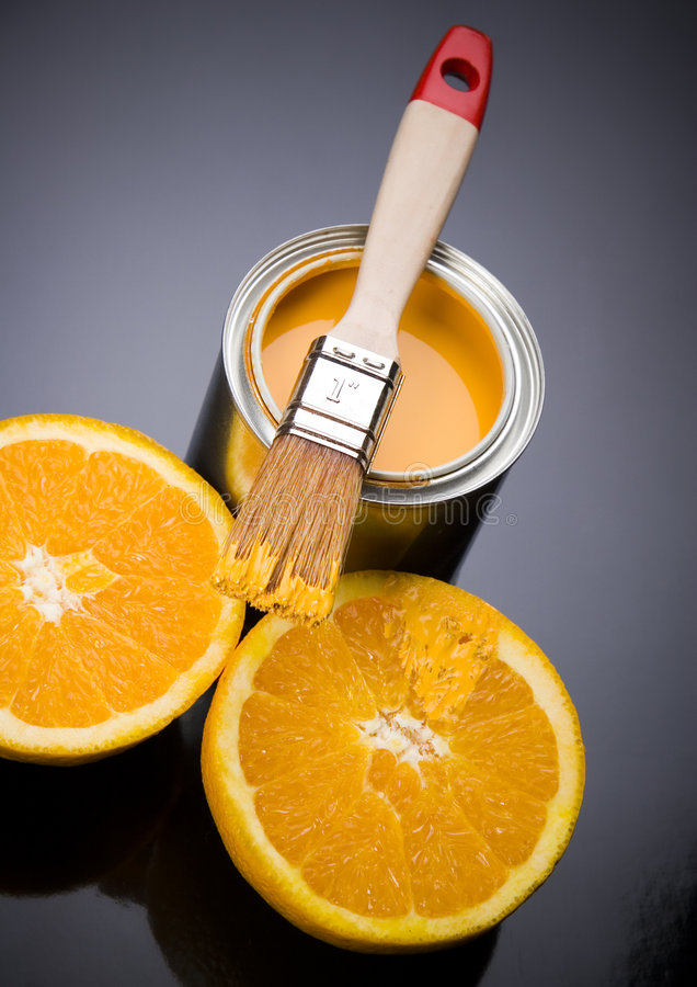 Paint and Orange royalty free stock images
