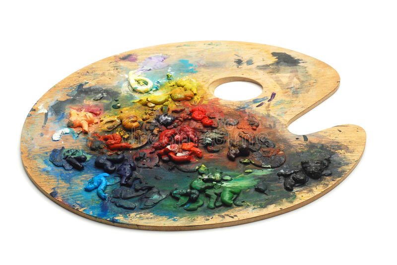 Download Paint Palette Royalty Free Stock Photos - Image: 25947258