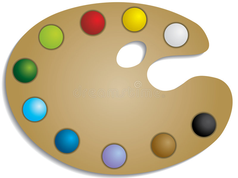 Paint Palette royalty free illustration